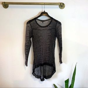 Eileen Fisher Open Knit Long Sleeve Top